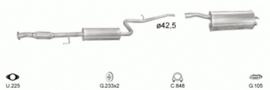 Complete Uitlaat Fiat Doblo 1.6 - 16V 103 PK 76 KW 2000 t/m 2005 (1502)