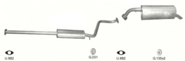 Complete uitlaat Hyundai Getz 1.1i 12V 11/2006 - heden (2261)