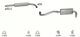 Complete uitlaat Seat Arosa 1.4 TDI - 1.7 SDI (140)