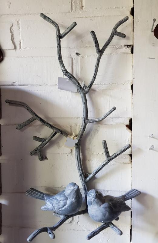 2 Mussen Op Tak Wanddecoratie