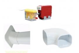 Condenswaterpomp 7 liter/uur inclusief bocht,koof en plafond eindstuk