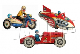 Retro-Spielzeugtransportmittel