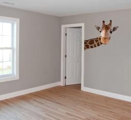 Muursticker giraf groot (rechts)