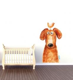 Wandaufkleber mit Hundemotiv