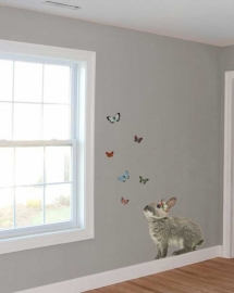 Wall Decal Rabit with butterflies