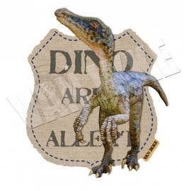 Iron-on Dino alert 2
