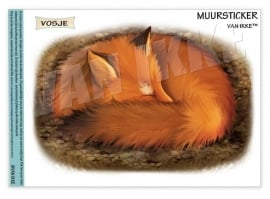 Wall Decal Sleeping Fox