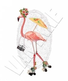 Iron-on Flamingo