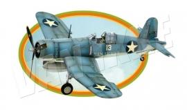 Iron-on Vliegtuig blauw