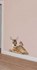 Wall Decal Dear with a robin