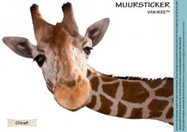 Muursticker giraf klein