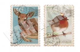 Postzegels Hertje & Vogel