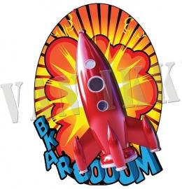 Iron-on Raket rood