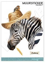 Zebra mit Hut