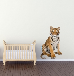 Wandaufkleber mit Tiger