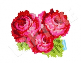 Geborduurde rozen