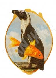 Pinguin mit Fisch XS