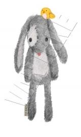 Kaninchen mit Vogel XS