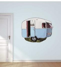 Wandaufkleber mit Wohnmobil