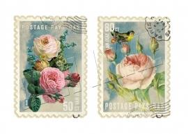 Blumen-Briefmarken