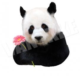 Panda mit Blume XS