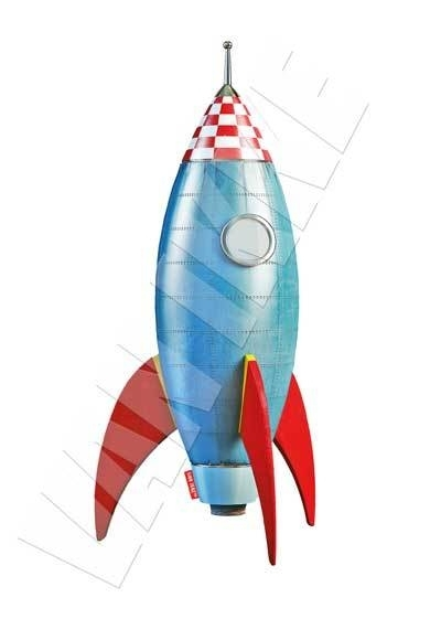 Raket blauw