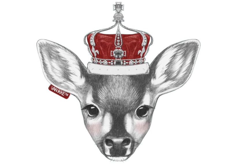Roe deer with a Royal crown