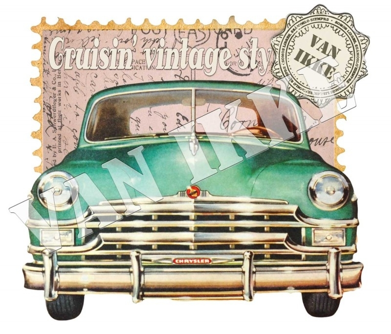 Iron-on Cruisin` vintage style