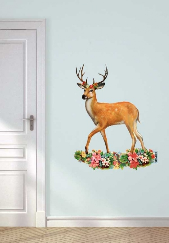 Wall decal Dear with Antlers