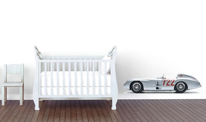 Wall decal race car