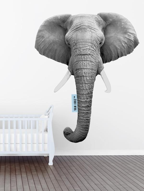 Muursticker olifant
