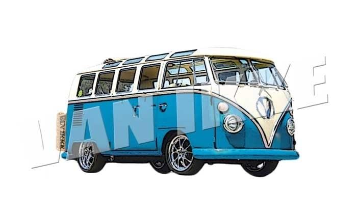 Bus blauw XS