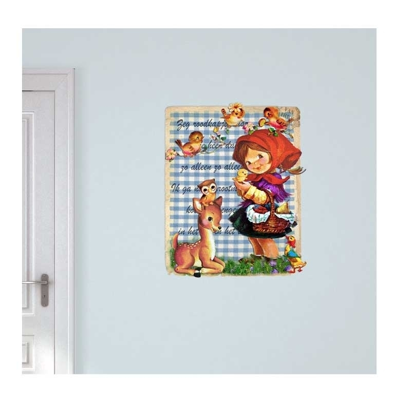 Wall decal Little Red Riding Hood