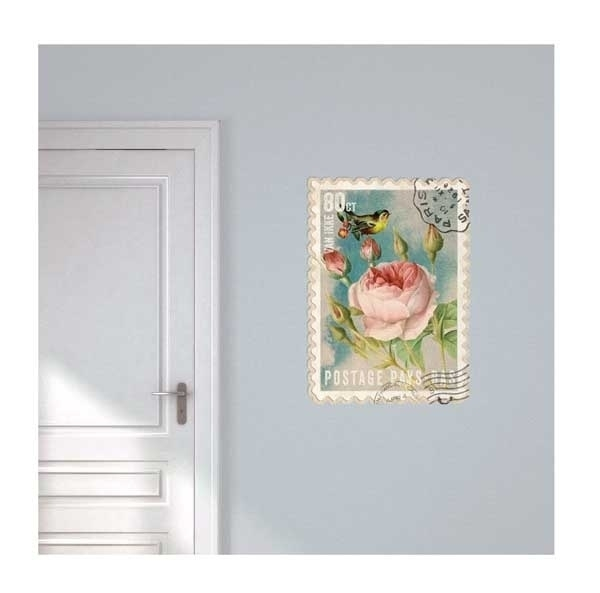 Wall decal Postage Stamp Flower
