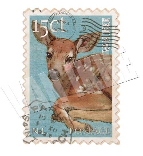Postzegel Hertje
