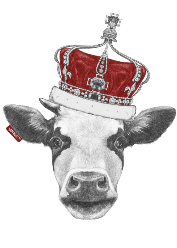 Cow with a Royal Crown