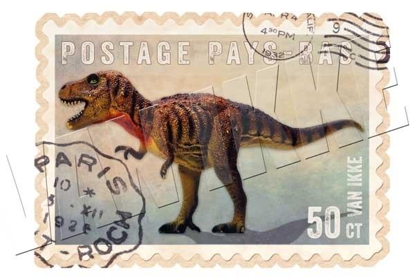 Postzegel dino 1