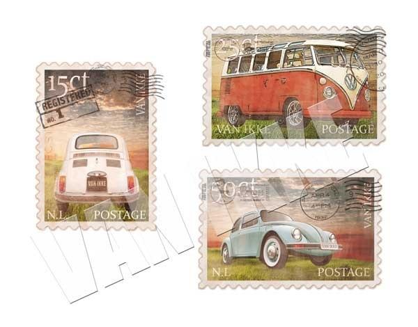 Postzegels auto