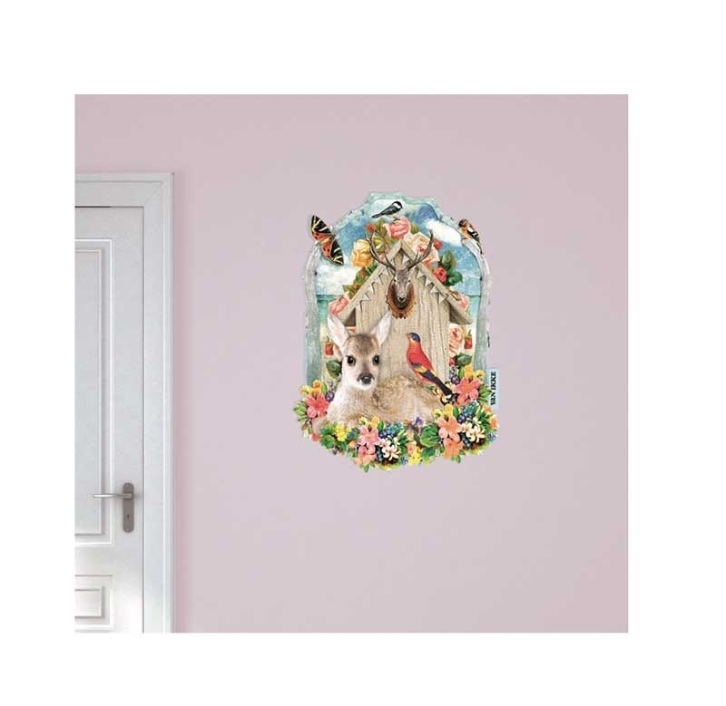 Wall decal Deer With Flowers