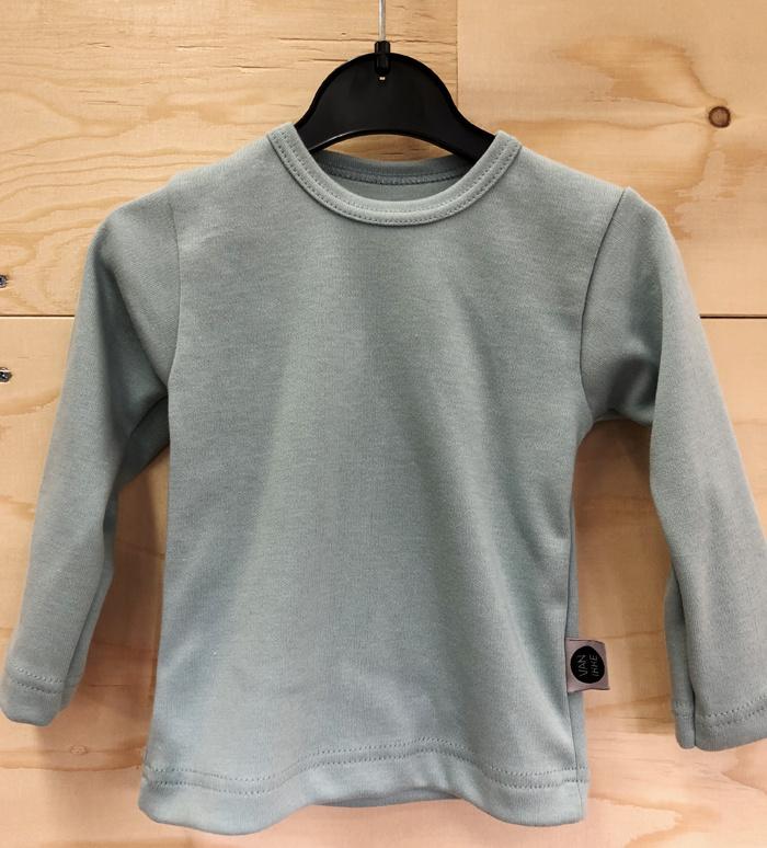 Mint shirt met applicatie
