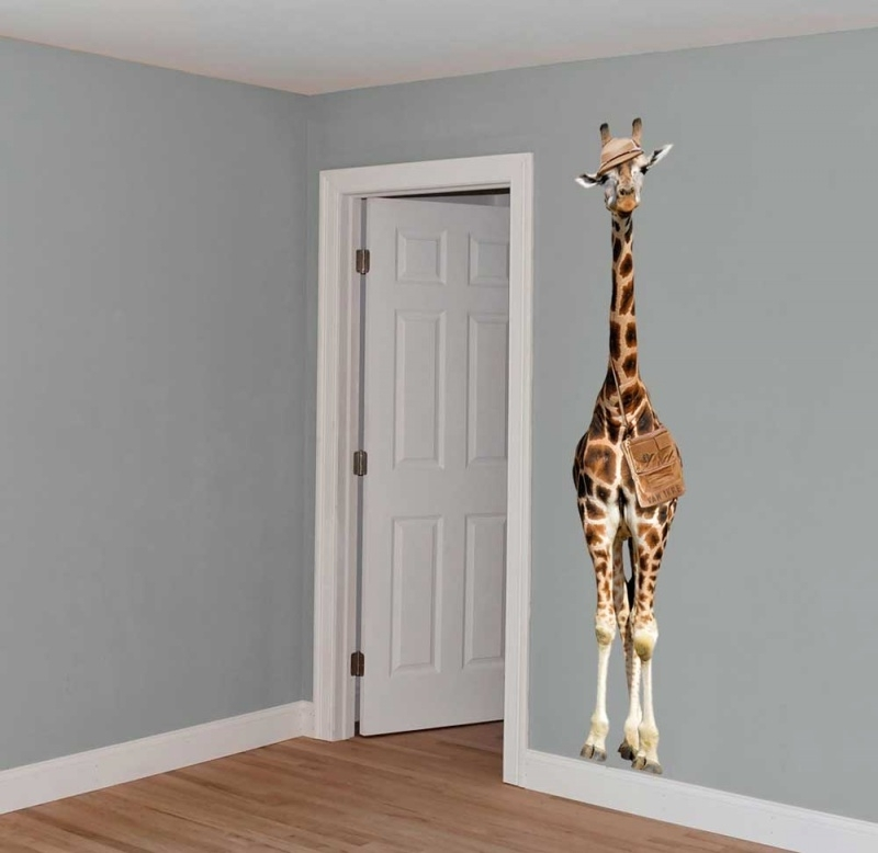 Wall decal Giraffe on safari