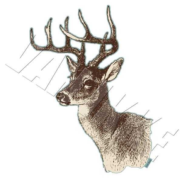 Line drawing deer