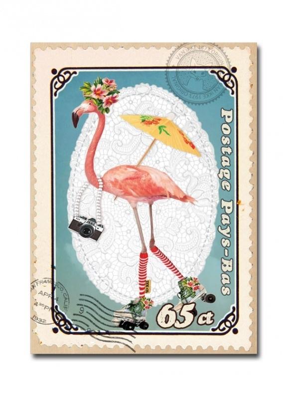Postkarten Flamingo