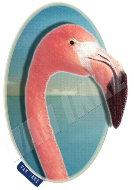 Iron-on  Flamingo close-up