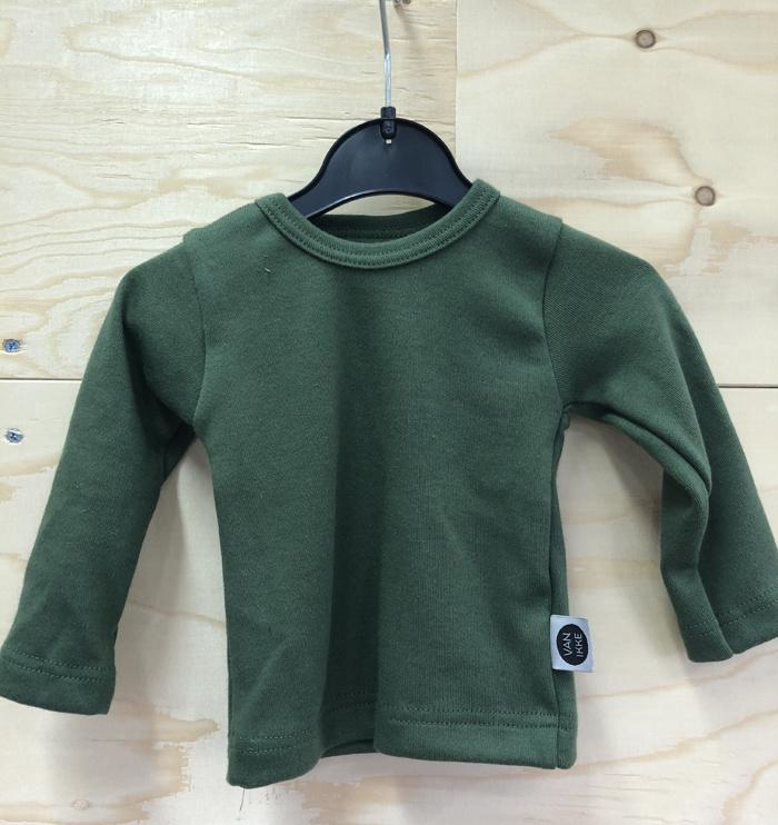 Groen shirt met applicatie