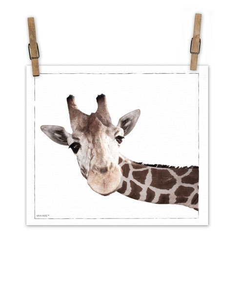 Giraf op canvas XL