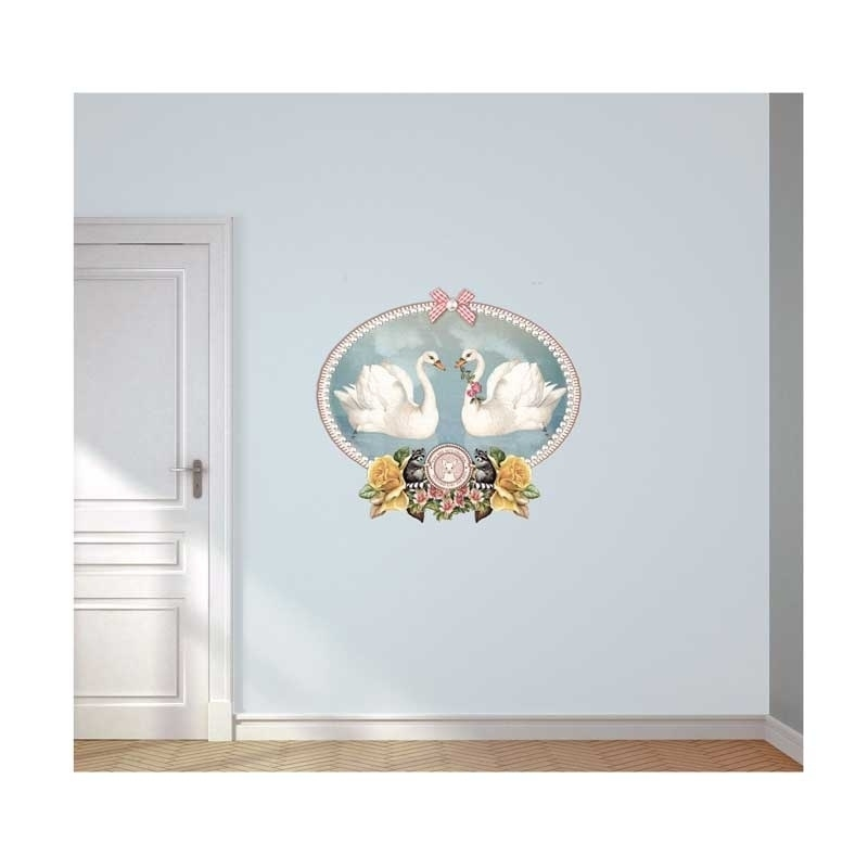 Wall decal Swans