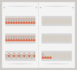 15.372.2400.40 - 3 fase 40A groepenkast-veldverdeler met 24 groepen