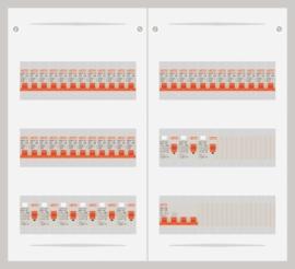 15.372.3600.40 - 3 fase 40A groepenkast-veldverdeler met 36 groepen