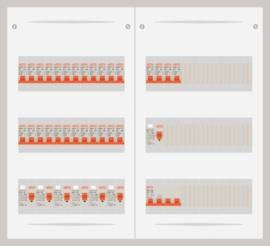 15.372.2800.40 - 3 fase 40A groepenkast-veldverdeler met 28 groepen